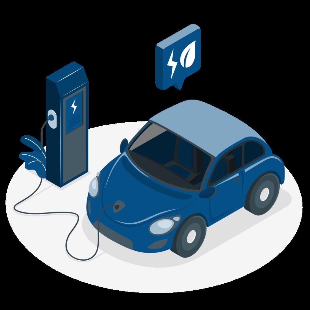 Electric car by Freepik.com